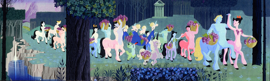 Pastoral mural by eyvind earle the hardyman files for Disneyland mural